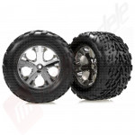 Roti complete spate, jante cromate All-Star + anvelope Talon - automodele electrice TRAXXAS