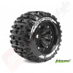 """Roti complete Louise RC MT-PIONEER black pentru automodele monster truck scara 1/8 Traxxas Style Bead 3.8"""", 1/2 offset, hex 17mm"""