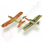"Kit de asamblare 2 planoare ""Hero Twin Pack"" - contine 2 planoare balsa 305mm, Reverso and DareDevil"