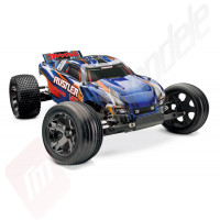 Automodel off-road TRAXXAS Rustler VXL cu radio TQi 2.4Ghz TSM, acumulator inclus, WATERPROOF, 100Km/h!